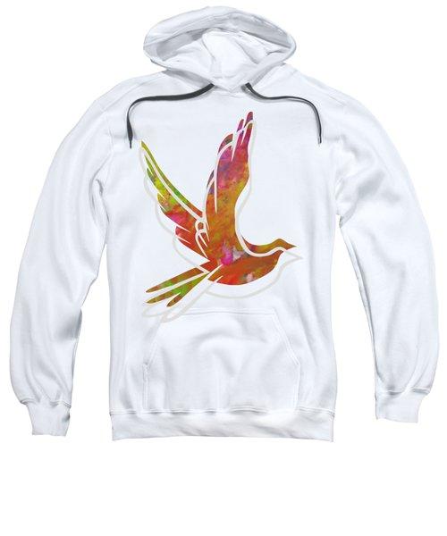 Part Of Peace Dove Sweatshirt by Priscilla Wolfe