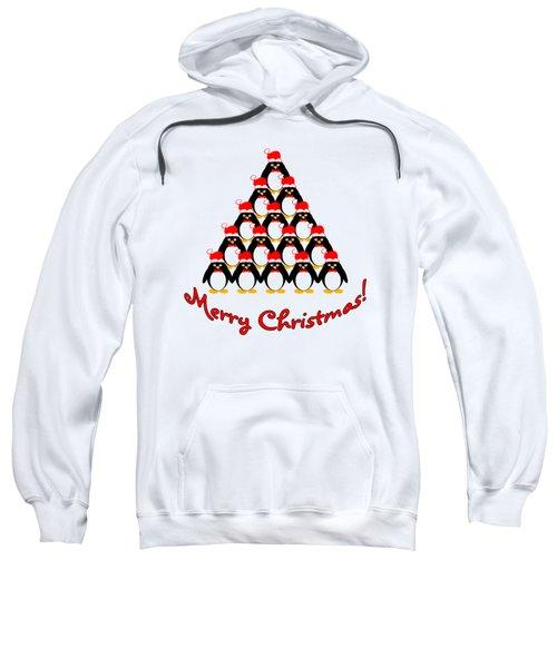Penguin Christmas Tree Sweatshirt by Methune Hively