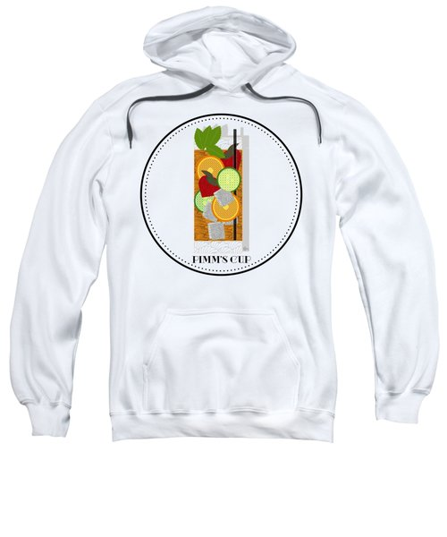 Pimm's Cup Cocktail In Art Deco  Sweatshirt by Cecely Bloom