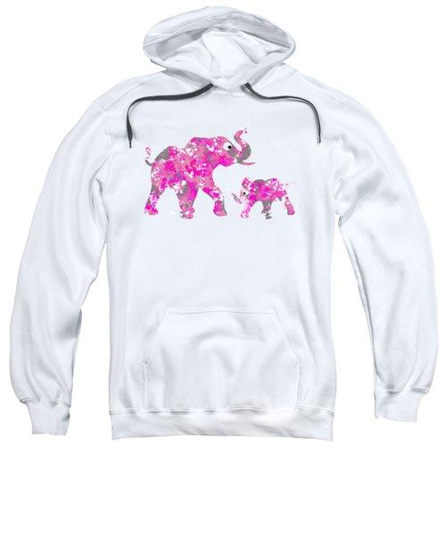 Pink Elephants Sweatshirt by Christina Rollo