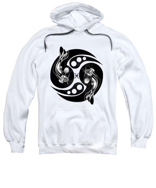 Pisces Koi Sweatshirt by  Fli Art