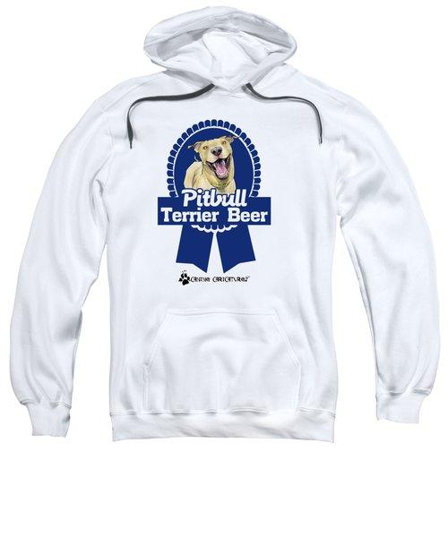 Pit Bull Terrier Beer Sweatshirt by John LaFree