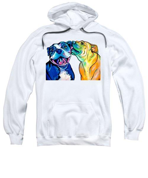 Pitbull Kisses Sweatshirt by Abbi Kay