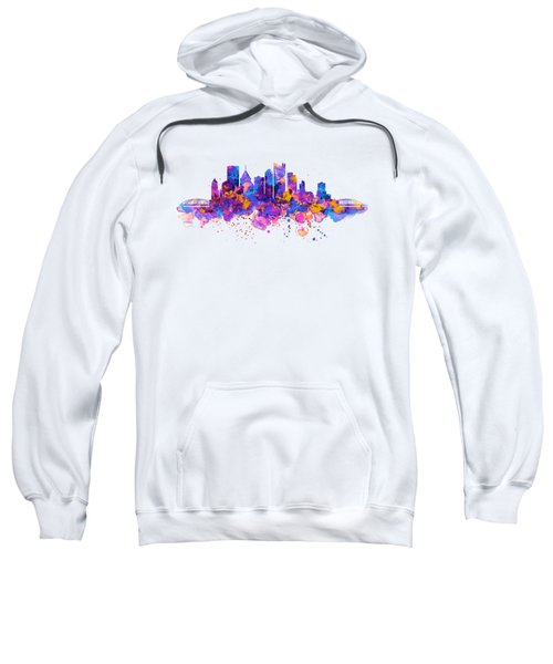 Pittsburgh Skyline Sweatshirt by Marian Voicu