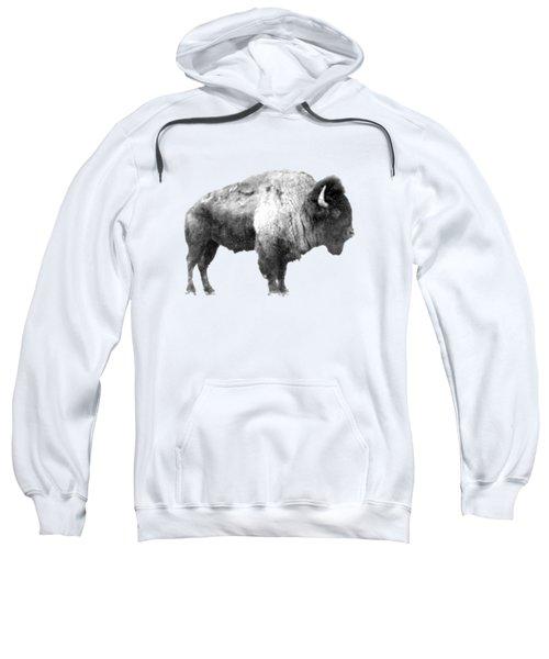 Plains Bison Sweatshirt by Jim Sauchyn