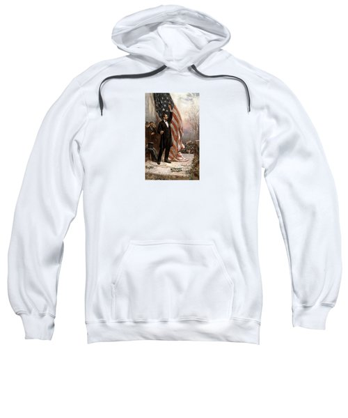 President Abraham Lincoln Giving A Speech Sweatshirt by War Is Hell Store