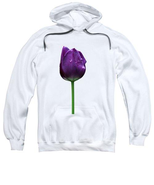 Purple Tulip T Sweatshirt by Ivan Slosar
