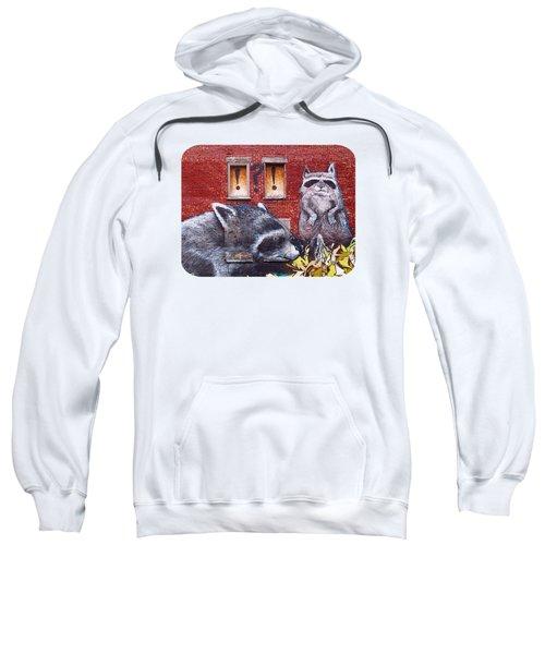 Raccoons Sweatshirt by Ethna Gillespie