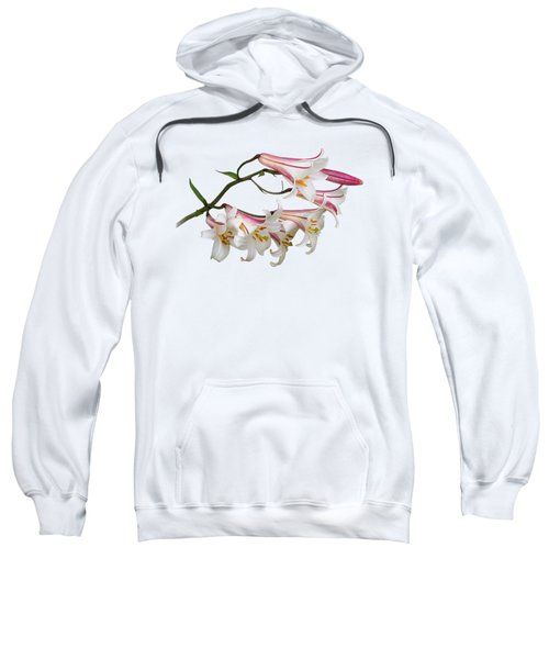 Radiant Lilies Sweatshirt by Gill Billington