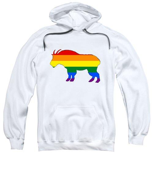 Rainbow Mountain Goat Sweatshirt by Mordax Furittus