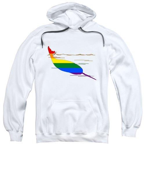 Rainbow Narwhal Sweatshirt by Mordax Furittus