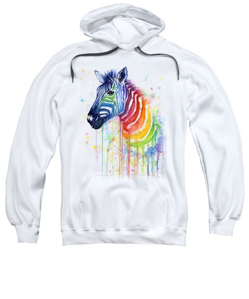 Rainbow Zebra - Ode To Fruit Stripes Sweatshirt by Olga Shvartsur