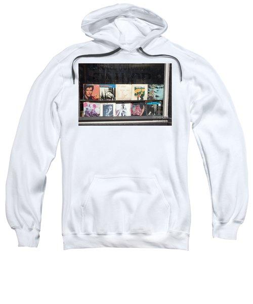 Record Store Burlington Vermont Sweatshirt by Edward Fielding