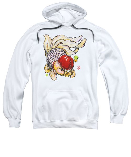 Red Cap Mixed Ranchu Sweatshirt by Shih Chang Yang