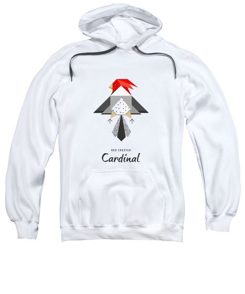 Red-crested Cardinal Minimalist Sweatshirt by BONB Creative