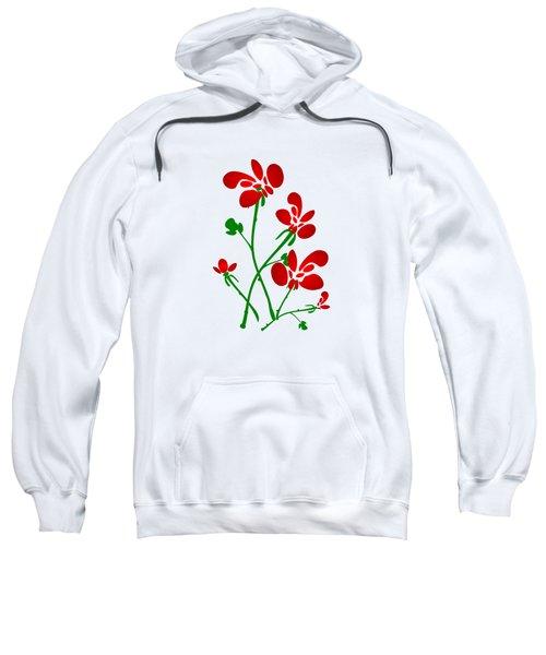 Rooster Flowers Sweatshirt by Anastasiya Malakhova