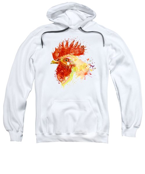 Rooster Head Sweatshirt by Marian Voicu