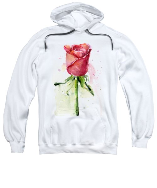 Rose Watercolor Sweatshirt by Olga Shvartsur
