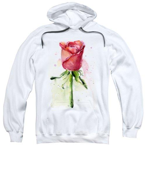 Rose Watercolor Sweatshirt by Olga Shvartsur