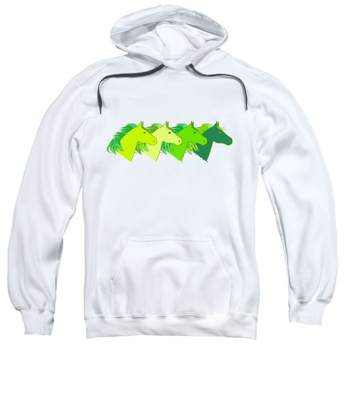 Running Horse Lime Sweatshirt by Alexsan