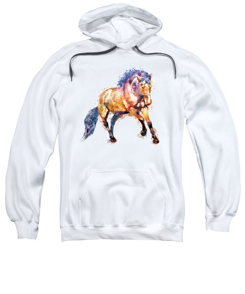 Running Horse Sweatshirt by Marian Voicu