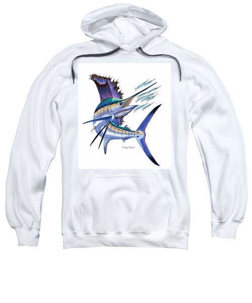 Sailfish Digital Sweatshirt by Carey Chen
