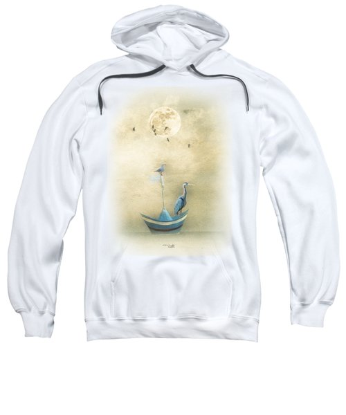 Sailing By The Moon Sweatshirt by Chris Armytage