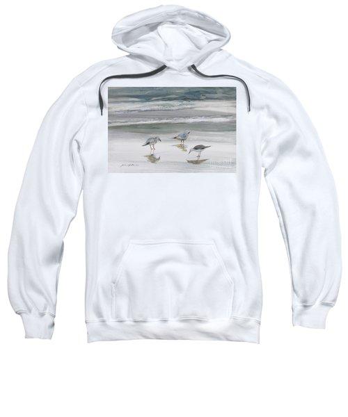 Sandpipers Sweatshirt by Julianne Felton
