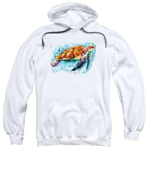 Sea Turtle  Sweatshirt by Marian Voicu