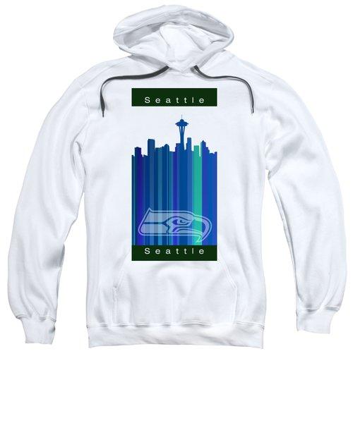 Seattle Sehawks Skyline Sweatshirt by Alberto RuiZ