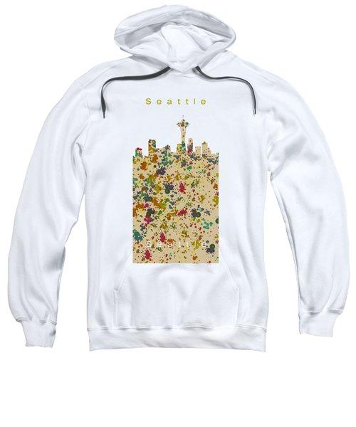 Seattle Skyline.2 Sweatshirt by Alberto RuiZ