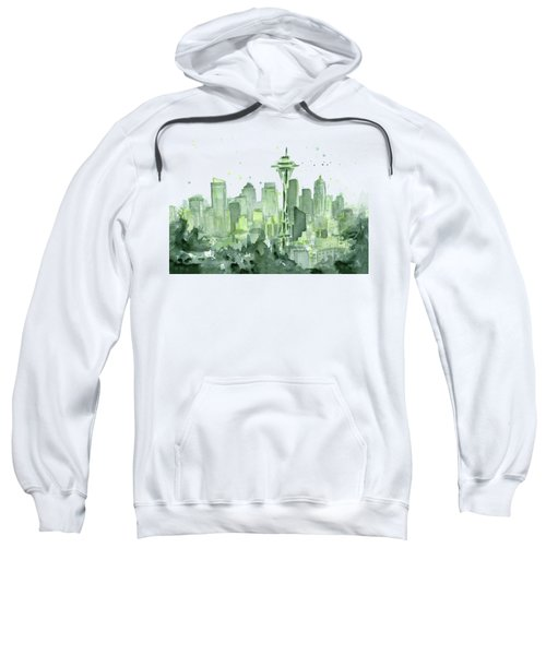 Seattle Watercolor Sweatshirt by Olga Shvartsur
