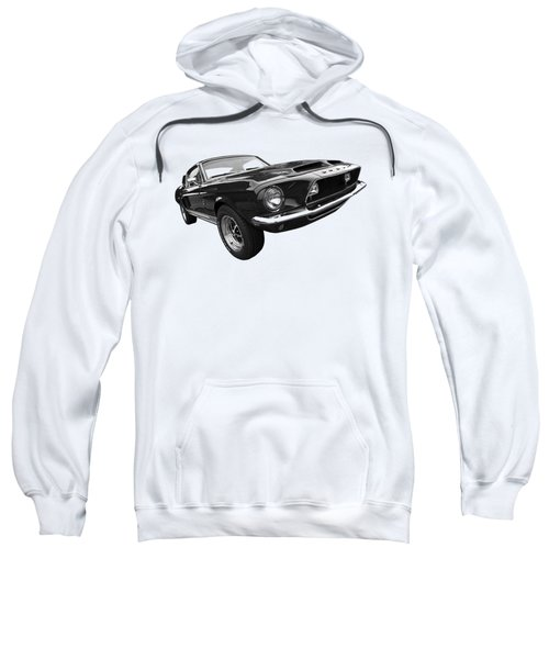 Shelby Gt500kr 1968 In Black And White Sweatshirt by Gill Billington