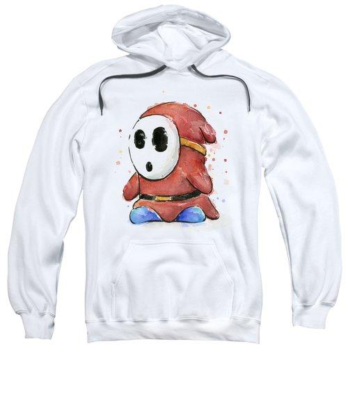 Shy Guy Watercolor Sweatshirt by Olga Shvartsur