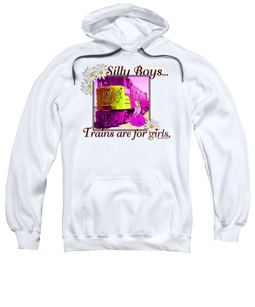 Silly Boys, Trains Sweatshirt by Sheri Cockrell