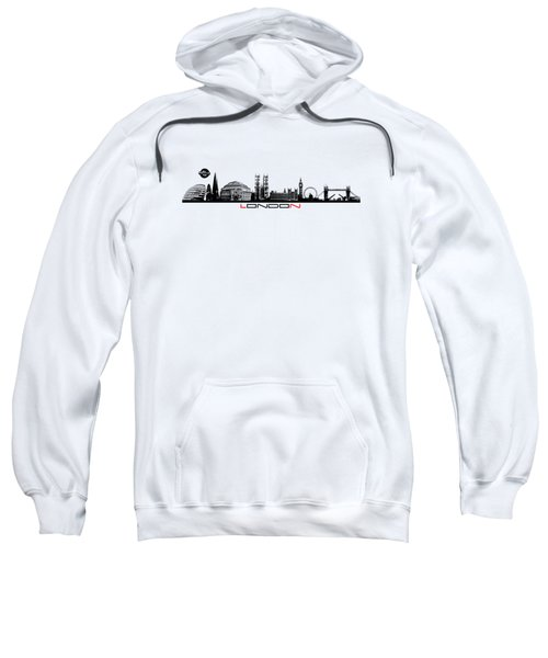 skyline city London black Sweatshirt by Justyna JBJart