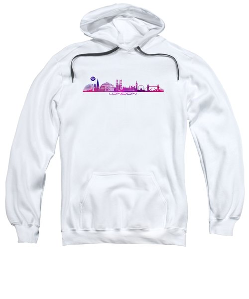 skyline city London purple Sweatshirt by Justyna JBJart
