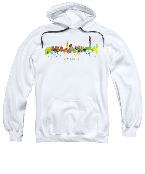 Skyline Of Hong Kong Sweatshirt by Chris Smith