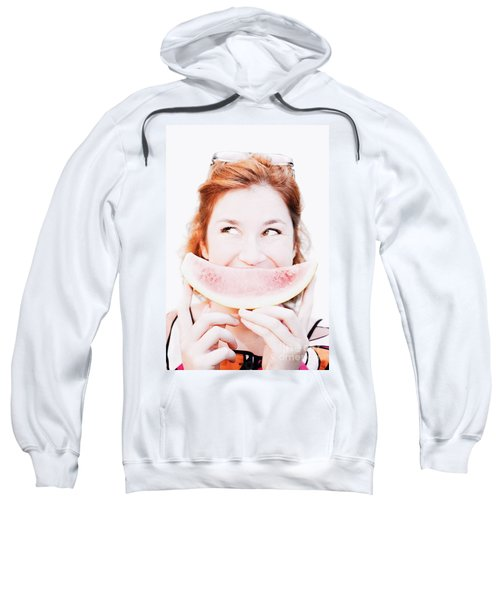 Smiling Summer Snack Sweatshirt by Jorgo Photography - Wall Art Gallery