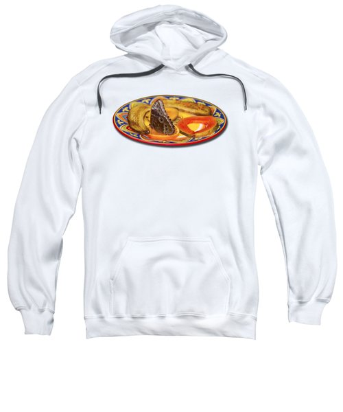 Snacking Butterfly Sweatshirt by Bob Slitzan