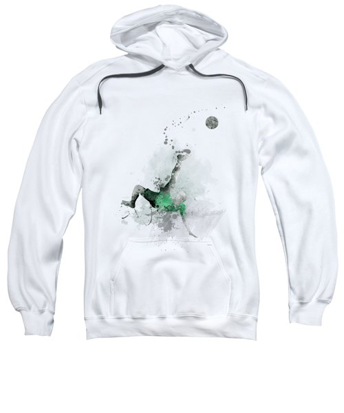 Soccer Player Sweatshirt by Marlene Watson