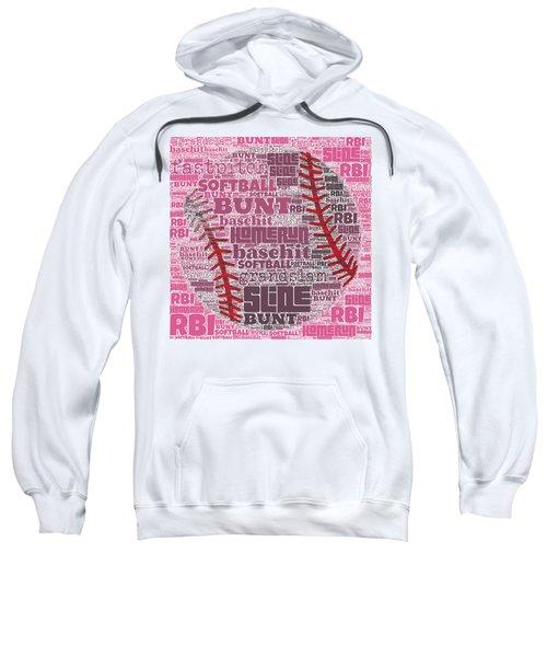 Softball  Sweatshirt by Brandi Fitzgerald