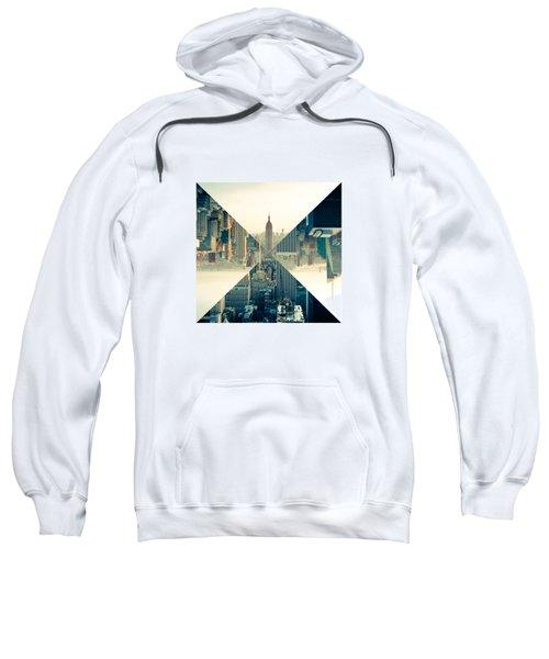 Split Skyline Ny Sweatshirt by Jamie Kingswood