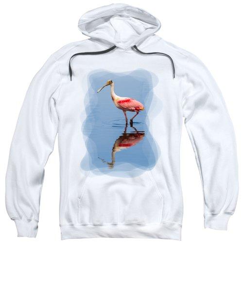 Spoonbill 3 Sweatshirt by John M Bailey
