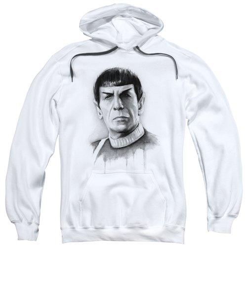 Star Trek Spock Portrait Sweatshirt by Olga Shvartsur
