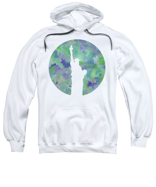 Statue Of Liberty Silhouette Sweatshirt by Phil Perkins