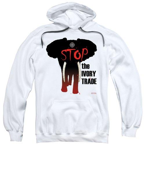 Stop The Ivory Trade Sweatshirt by Galen Hazelhofer