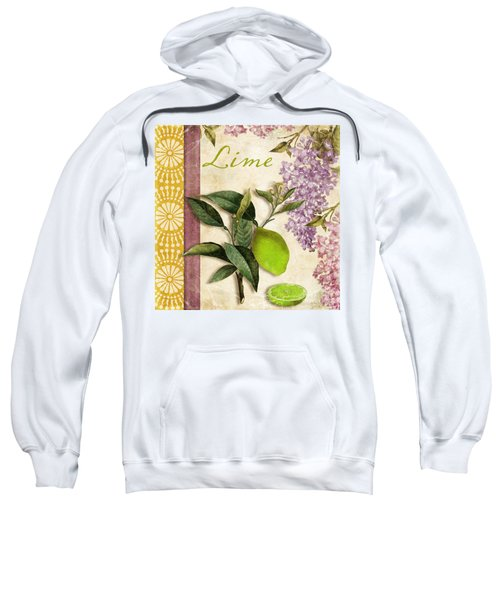 Summer Citrus Lime Sweatshirt by Mindy Sommers
