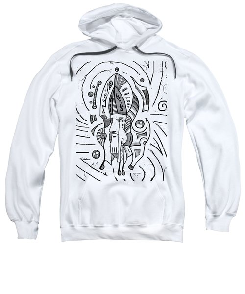 Surrealist Head Sweatshirt by Sotuland Art
