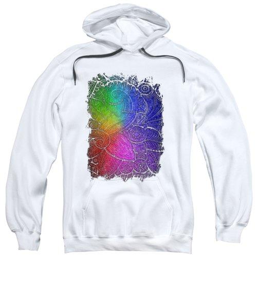 Swan Dance Cool Rainbow 3 Dimensional Sweatshirt by Di Designs